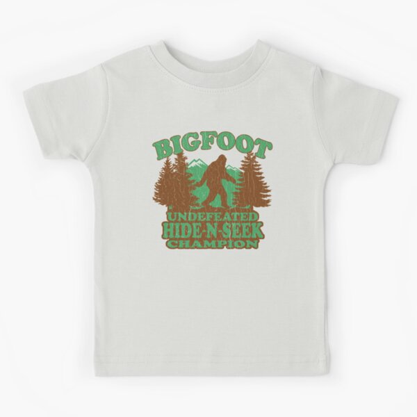 Bigfoot Hide N Seek Champion (vintage distressed) Kids T-Shirt