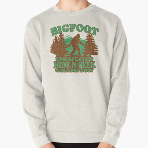 Bigfoot Hide N Seek Champion (vintage distressed) Pullover Sweatshirt
