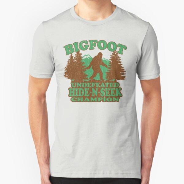 Bigfoot Hide N Seek Champion (vintage distressed) Slim Fit T-Shirt