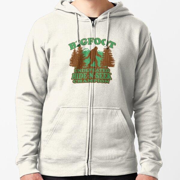 Bigfoot Hide N Seek Champion (vintage apenado) Sudadera con capucha y cremallera