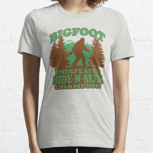 Bigfoot Hide N Seek Champion (vintage distressed) Essential T-Shirt