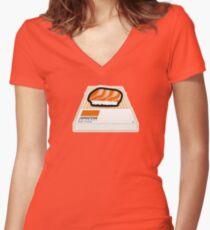 Japantone - Sake Orange Women's Fitted V-Neck T-Shirt