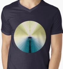 Golden Rays Mens V-Neck T-Shirt