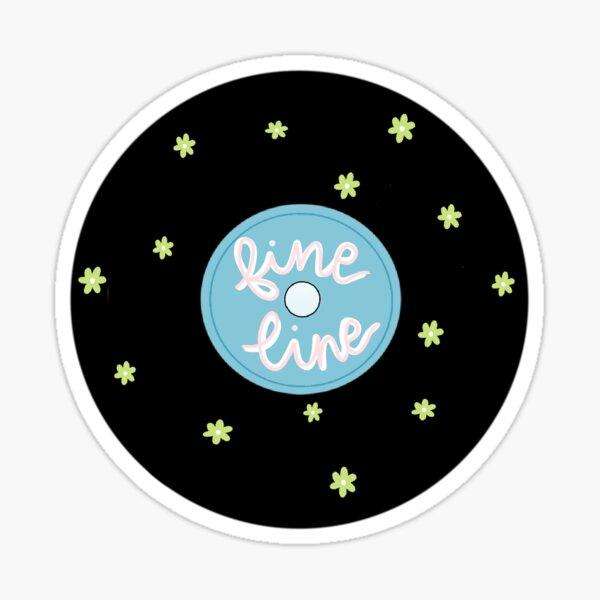 fine line vinyl Sticker