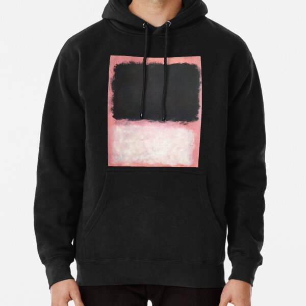 Mark Rothko - Untitled - Pink and Black Artwork Pullover Hoodie