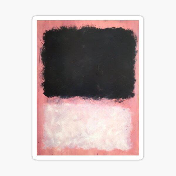 Mark Rothko - Untitled - Pink and Black Artwork Sticker