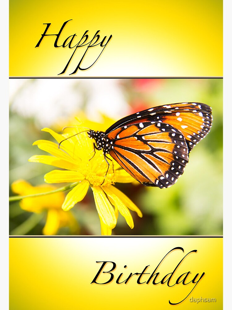 Happy Birthday Monarch Butterfly Card Greeting Card By Daphsam Redbubble Find images of monarch butterfly. redbubble