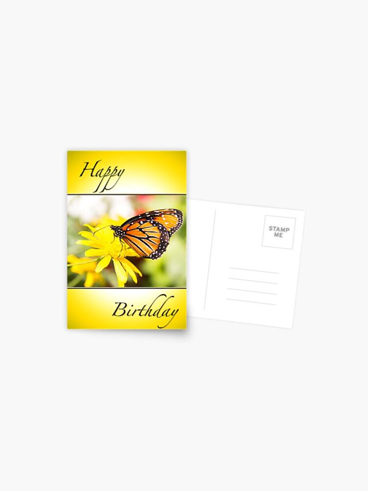 Happy Birthday Monarch Butterfly Card Postcard By Daphsam Redbubble 550 x 408 jpeg 41 kb. redbubble