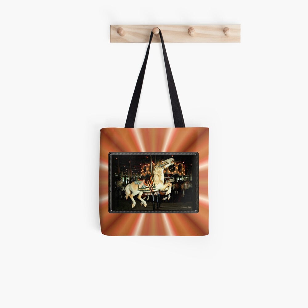 Beautiful Horse on the Carousel Tote Bag