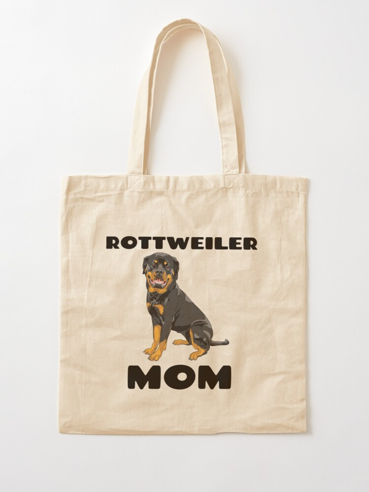 Rottweiler Puppy Cotton Tote Shopping Bag