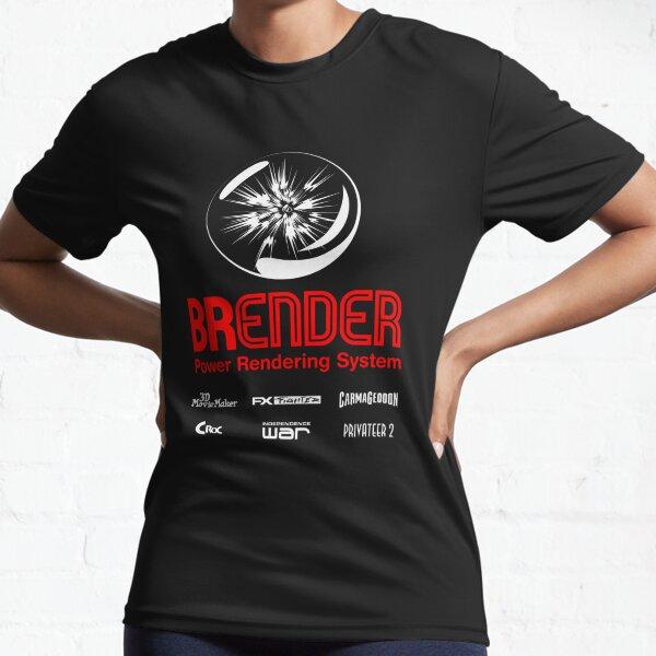BRender Power Rendering System Active T-Shirt