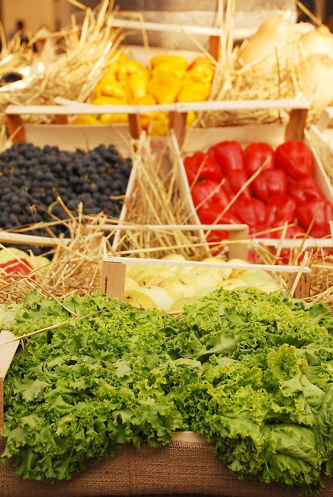 Fruit and Vegetable Display by jojobob