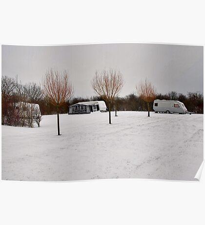 """Winter campsite"" Poster"