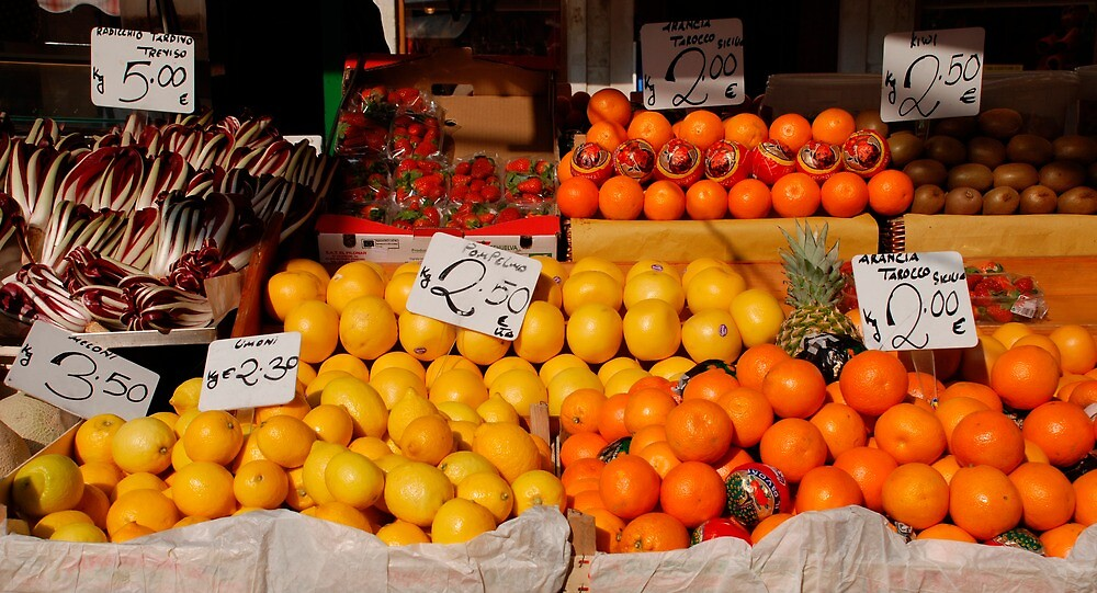 Citrus Fruits on Market Stall by jojobob