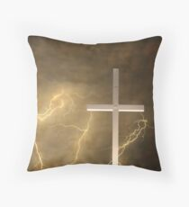 Good Friday in Sepia Texture Throw Pillow