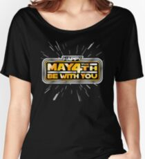 Happy May the 4th! (Yellow/Stars) Women's Relaxed Fit T-Shirt