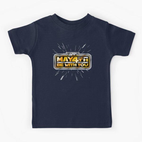 Happy May the 4th! (Yellow/Stars) Kids T-Shirt