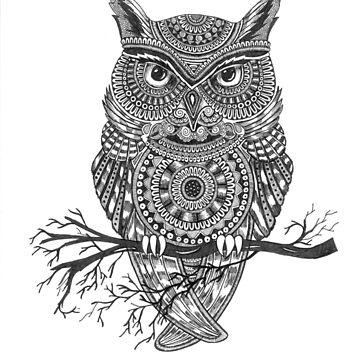 Mandala Owl by rkrishnappa