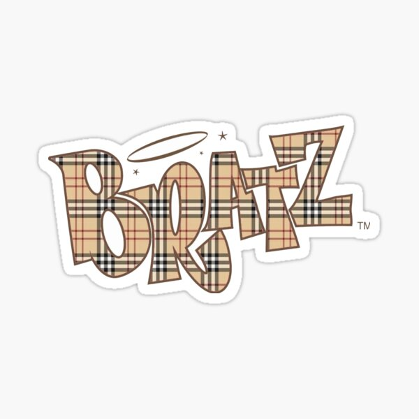 Plaid Bratz Logo Sticker