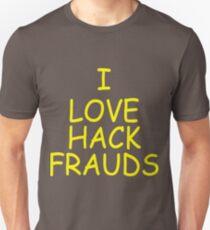 Redlettermedia I Love Hack Frauds T-Shirt