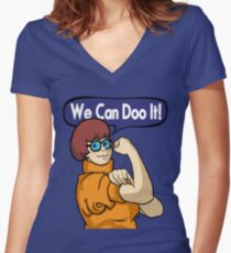 We Can Doo It! Women's Fitted V-Neck T-Shirt