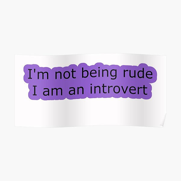 Introvert Thought 1 Poster