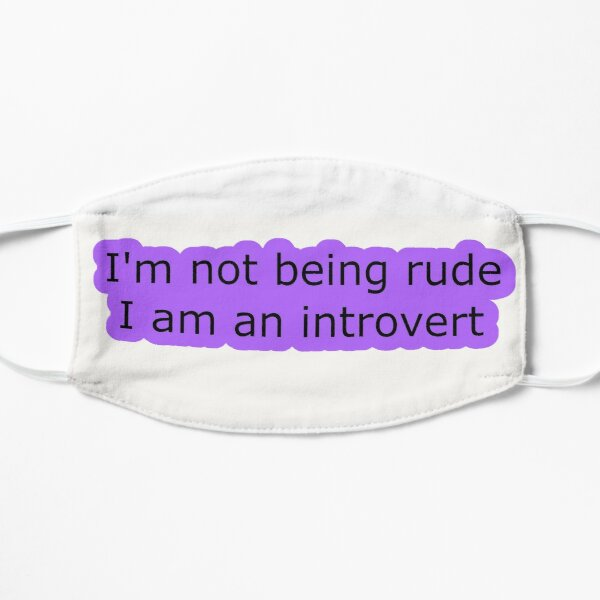 Introvert Thought 1 Flat Mask