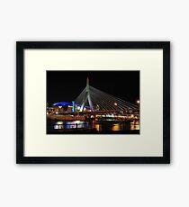 Boston's Zakim-Bunker Hill Bridge Framed Print