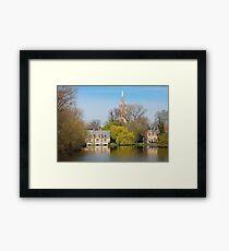 Minnewater in Bruges Belguim Framed Print
