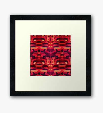Abstract red geometric triangle texture pattern design (Digital Futrure - Hipster / Fashion) Framed Print