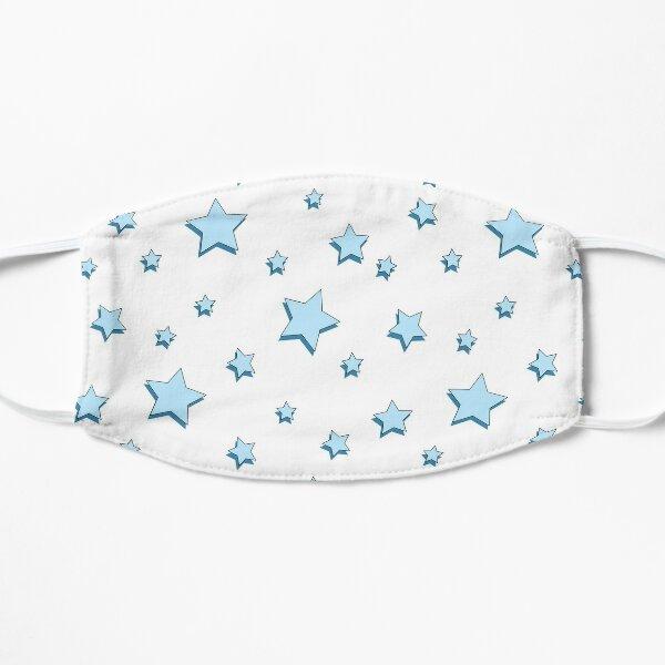 Pastel Blue Stars Pack Flat Mask