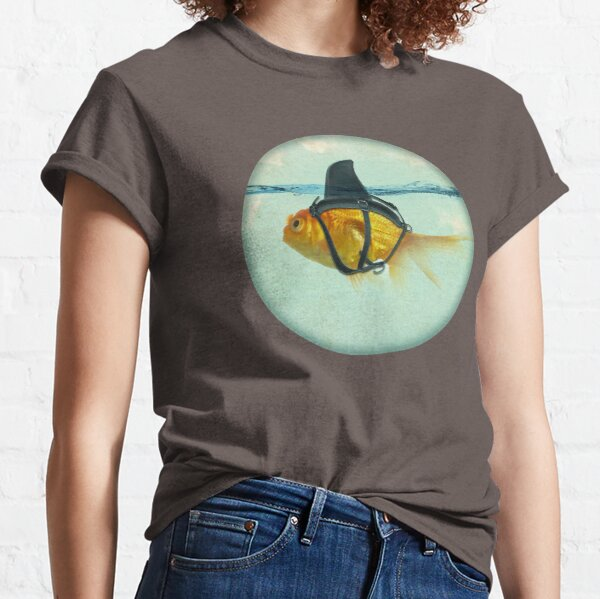 brilient disguise, goldfish with a shark fin Classic T-Shirt