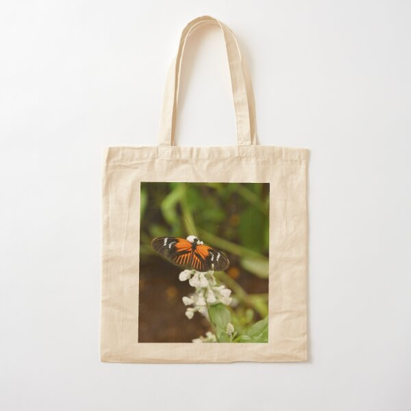 Butterfly on a Flower Cotton Tote Bag