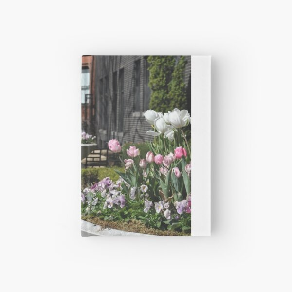 Boston's Back Bay, USA. Flower Containers. Hardcover Journal