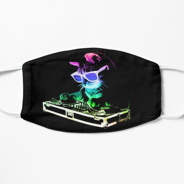 CAT MAISON (Rainbow DJ Kitty) Masque sans plis