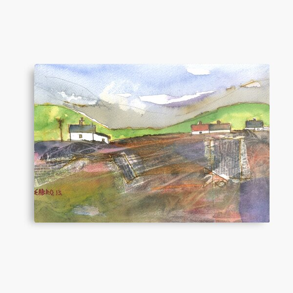 White Cottages 2, Scotland - 2013 Metal Print