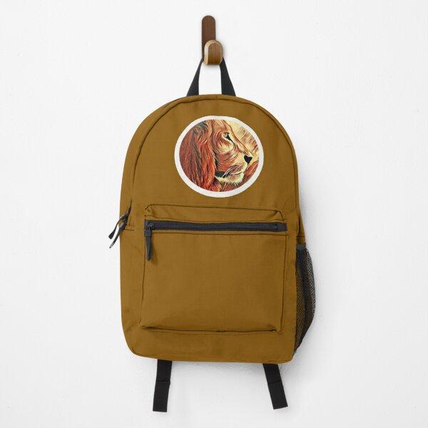 Lion-KingofBeasts Sticker Backpack