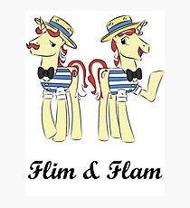 flim flam (blk text) Photographic Print