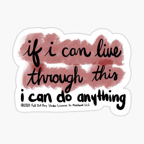"""""""I can do anything"""" Sticker"""