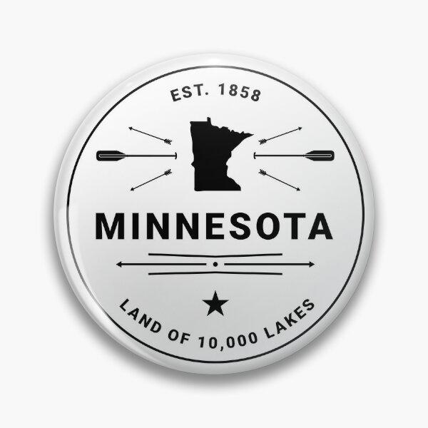 Minnesota Badge — 10,000 Lakes (Black) Pin