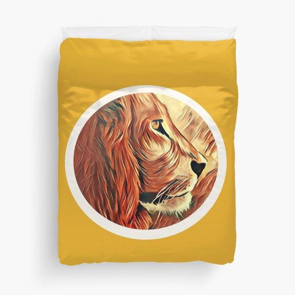 Lion-KingofBeasts Sticker Duvet Cover