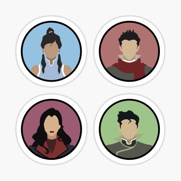 Korra's Team Avatar , Avatar: The Last Airbender Sticker