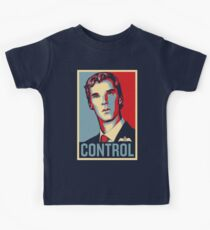 CONTROL Beige/PastelBlue/Red Kids Tee
