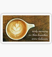 cappuccino haiga Sticker