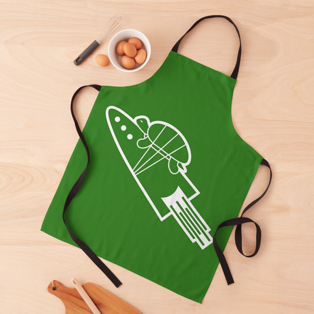 turtle riding rocket Apron