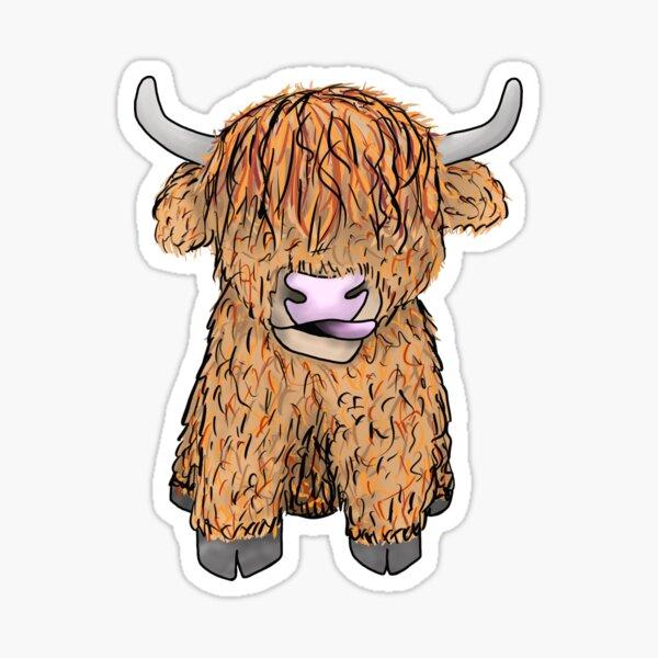 Fergus the Highland Cow Sticker