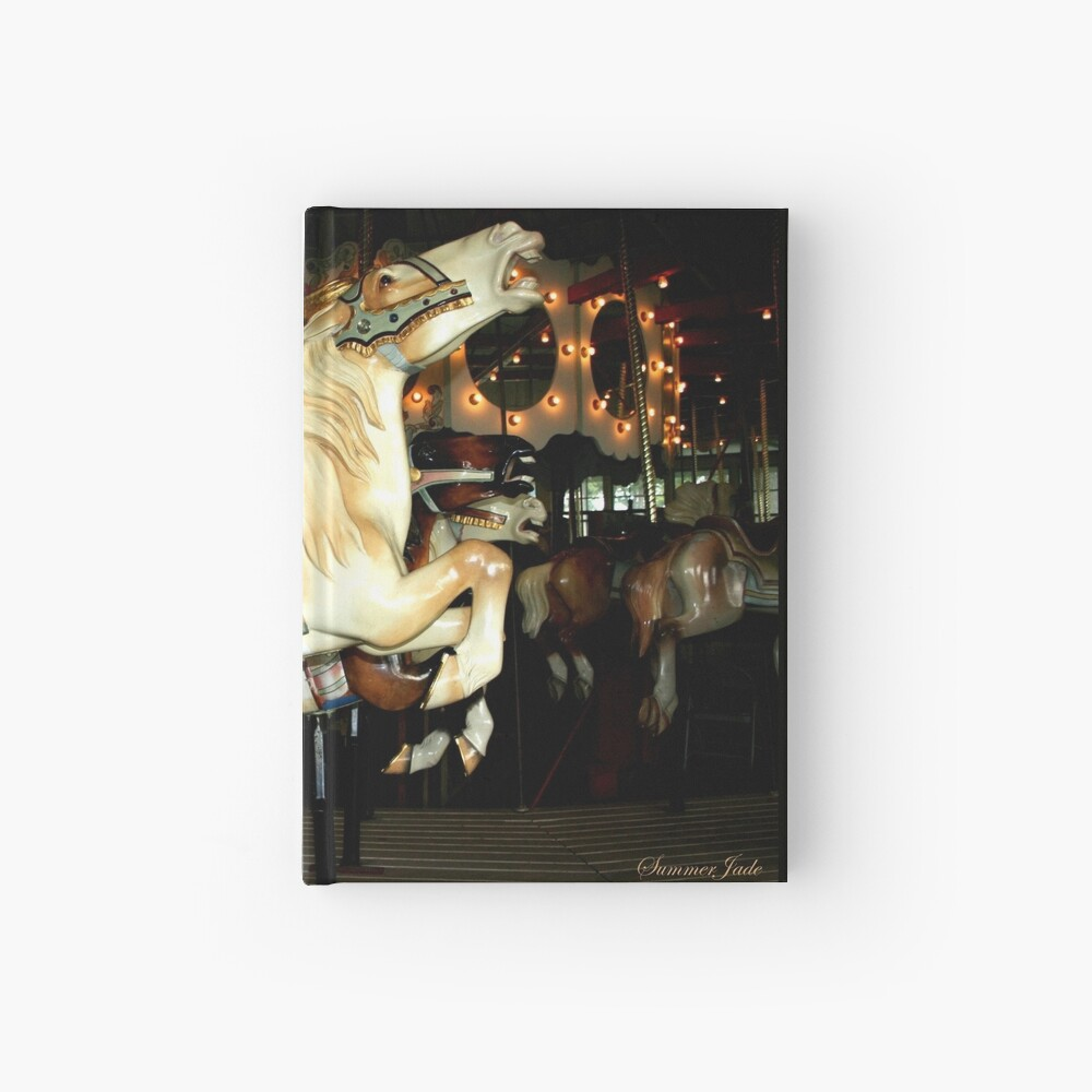 Beautiful Horse on the Carousel Hardcover Journal