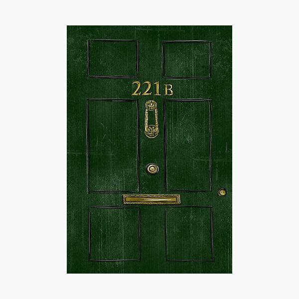 221B Door Photographic Print