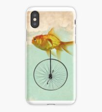 unicycle goldfish iPhone Case/Skin