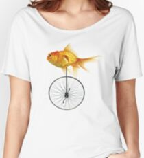 unicycle goldfish Women's Relaxed Fit T-Shirt